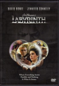 dvd movie Labyrinth with David Bowie and Jennifer Connelly
